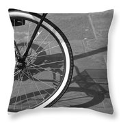 Huffy Shadow Throw Pillow