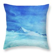 Huge And Blue Throw Pillow
