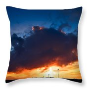 Huge Dusk Cloud Throw Pillow