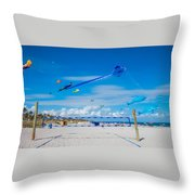 Huge Kites Delray Beach Throw Pillow