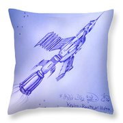 Huge Space Shuttle. In Antiworld Throw Pillow