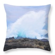 Huge Storms River Splash Throw Pillow