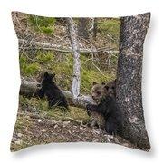 Hugging A Tree Throw Pillow