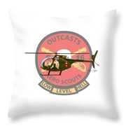 Hughes Oh-6a Electric Olive II Throw Pillow