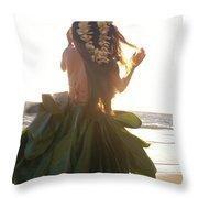 Hula At Sunrise Throw Pillow by Tomas del Amo - Printscapes