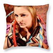 Hula Girl 2 Throw Pillow