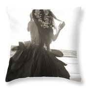 Hula Girl Throw Pillow