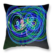 Hula Hoop In Light Throw Pillow