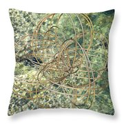 Hula Hoop Throw Pillow
