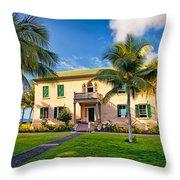 Hulihe'e Palace, Kona, Big Island Hawaii Throw Pillow