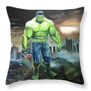 Hulk. Original Acrylic Throw Pillow