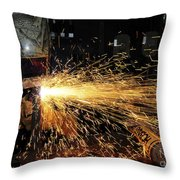 Hull Maintenance Technician Welds Scrap Throw Pillow