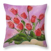 Hull Roses Throw Pillow
