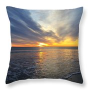 Hull Sunrise In March  Throw Pillow