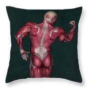 Human Anatomy 9 Throw Pillow