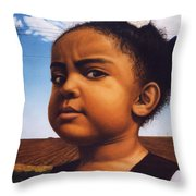 Human-nature Number Thirteen Throw Pillow by James W Johnson