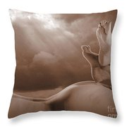 Human-scape Throw Pillow