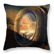 Human Soul With Knowledge Throw Pillow
