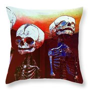 Humans Throw Pillow