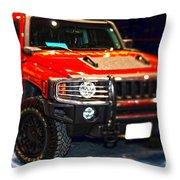 Hummer - Marine Recruiting Throw Pillow