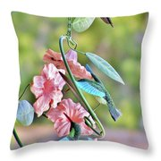 Hummer On Hummers Throw Pillow
