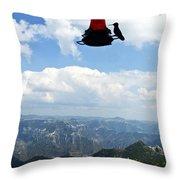 Humming At Copper Canyon Throw Pillow