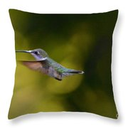 Humming In West Virginia  Throw Pillow