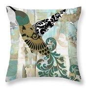Hummingbird Batik Throw Pillow
