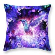 Hummingbird Love Throw Pillow
