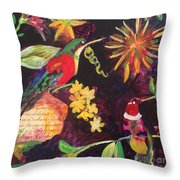 Hummingbird Heaven Throw Pillow