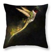 Hummingbird Hotty Totty Style Throw Pillow