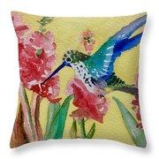 Hummingbird II Throw Pillow