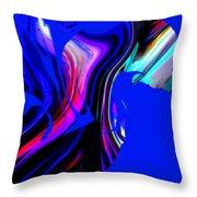 Hummingbird In The Blue. Throw Pillow