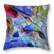 Hummingbird Joy Throw Pillow
