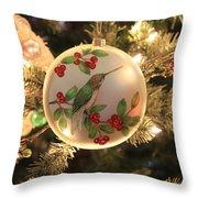 Hummingbird Ornament Throw Pillow