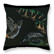 Hummingbird Parents Throw Pillow