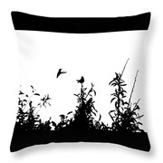 Hummingbird Silhouettes #1 Throw Pillow