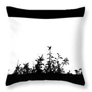 Hummingbird Silhouettes #2 Throw Pillow