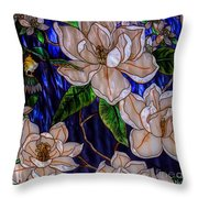 Hummingbird Stained Glass Throw Pillow