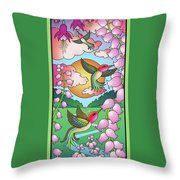Hummingbird Sunrise Throw Pillow