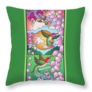 Hummingbird Sunrise Throw Pillow