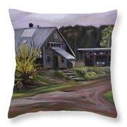 Humpals Barn Throw Pillow