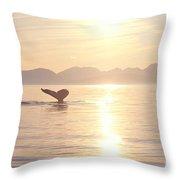 Humpback Lifting Fluke Throw Pillow