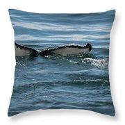 Humpback Tail Fins Throw Pillow
