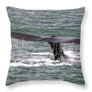 Humpback Whale Flute Alaska Throw Pillow