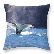 Humpback Whale Fluke Throw Pillow