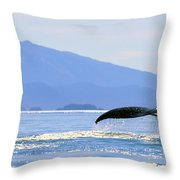 Humpback Whale Flukes Throw Pillow