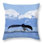 Humpback Whale Megaptera Novaeangliae Throw Pillow