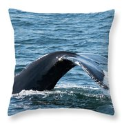 Humpback Whale Of A Tail Throw Pillow