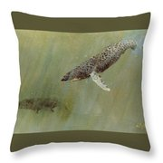 Humpbacks Throw Pillow